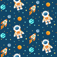 Space Pattern Simple Cute Space Pattern Wall Mural Pixers We Live To Change