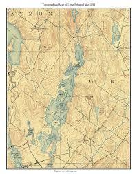 little sebago lake ca  old topographic map usgs custom