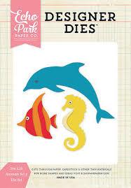 Universal paper die <b>cut</b> tool Sea Dolphin Angel fish <b>Seahorse</b> ...