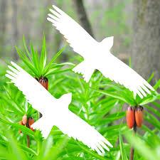 2 Aufkleber 20cm Milan Weiß Greif Vogel Fenster Glas Scheiben Schutz