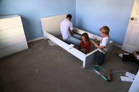 Malm Bedroom Time Lapse Assembly Of Ikea Malm Bed Frame Youtube