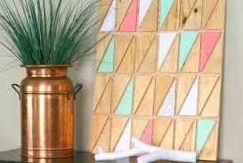 geometric wood art