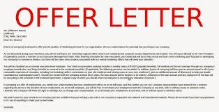 job offer letter format info job offer letter of intent