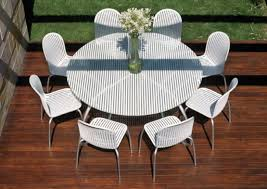 white metal outdoor furniture. Delighful Outdoor Patio Table Glass Top Replacement Expanded Metal Outdoor Furniture Plastic  With Umbrella Hole 60 Inch Round In White