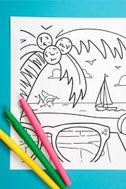 Well, these are for you! Free Printable Summer Coloring Page Hey Let S Make Stuff