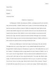 english critical analysis and intermediate composition smc 4 pages othello essay 2