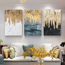 framed wall art gold leaf black and