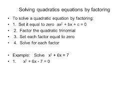 5 solving quadratics equations
