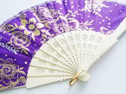 Pretty Folding Fan With Print Designs Free Name