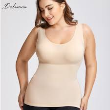 Delimira Bras Size Chart Delimira Womens Plus Size Tummy Control Shapewear Smooth Body Shaping Camisole Basic Tank Tops