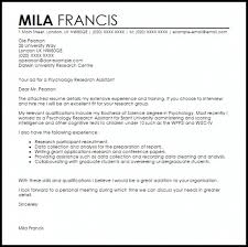 Resume Sample Research Assistant Cover Letter Sample Resume Cover
