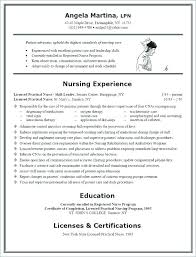 Sample New Graduate Lvn Resume Professional Resume Templates