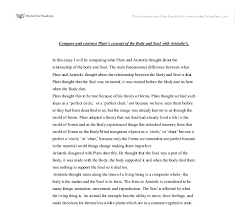 compare and contrast plato s concept of the body and soul  document image preview