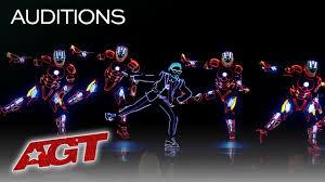 Dancers With Lights On America S Got Talent Light Balance Kids Delivers Mind Blowing Iron Man Dance Americas Got Talent 2019