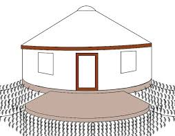 picture of insulated earthbag foundations for yurts