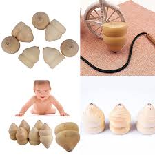 Wooden Spinning Top Game Natural Color Toy Kids Wood Spinning Top Spinner Gyro Wooden 29