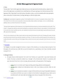 Management Contract Template Extraordinary Artist Management Contract Artist Rep Pinterest Artist