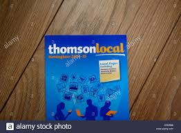 Business Phone Book Thomson Local Business Directory Phone Book Stock Photo 66818198