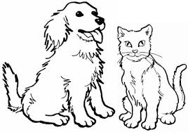 Small Picture Cute Cat And Dog Coloring Pages cute cat coloring pages inspire