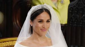 meghan markle stands at the altar during her wedding in st george s chapel at windsor castle