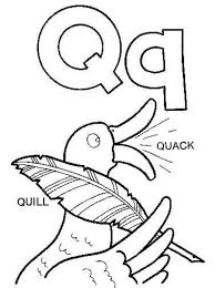 Small Picture Words From Q Words Of Q Alphabet Coloring Pages Quill And Quack