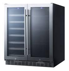 Undercounter Beverage Refrigerator Glass Door Summit Swbv3001 30 Wide Built In Undercounter Wine And Beverage
