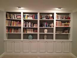 Wall Units, Marvelous Built In Shelves With Doors Built In Shelves Ikea  White Wall Bookcase