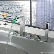 hotel bathtub faucets bath faucet mixers bathtub faucets rgb led light bathtub polished faucets