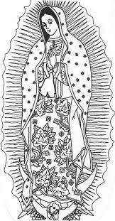 Virgen De Guadalupe Coloring Page Google Search La Virgen De