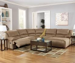 Living Room Sectionals With Chaise Hogan Mocha 5 Piece Motion Sectional With Right Chaise By