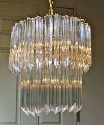 crystal prism chandelier crystal prism chandelier in good condition for in palm springs ca crystal
