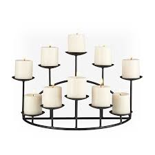 com southern enterprises 10 candle candelabra matte black finish home kitchen