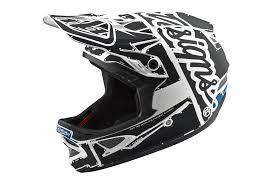 Troy Lee Design Troy Lee Designs D3 Fiberlite Factory Helmet White Grey