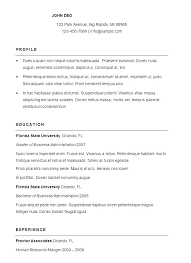 Simple Resumes Templates Adorable How To Write A Resume Free Samples Examples Word Simple Resumes