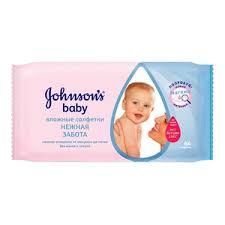 <b>Johnson's Baby влажные салфетки</b> 64 шт купить по цене 158,0 ...