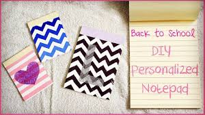 diy personalized notepads how to make notepads back to school 2016 you