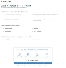 essay on wealth quiz worksheet gospel of wealth com wealth  quiz worksheet gospel of wealth com print gospel of wealth definition summary worksheet