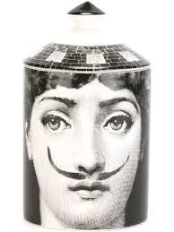 Fornasetti Art Prints Fornasetti Face Print Coaster White Women Lifestyle Homeware