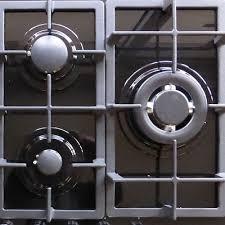 3 of 11 new 75cm black glass top 5 burner gas cooktop wok burner hob cast iron trivets