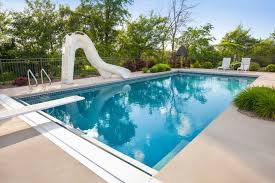 home swimming pools with slides. Simple Pools A Simple Slide With A Durable And Built In Ladder This An Ideal Fro On Home Swimming Pools With Slides R
