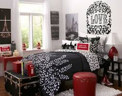 Entrancing Pictures Of Red Black And White Teenage Bedroom Decorating  Design Ideas : Adorable Red Black