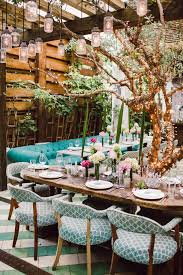 a beautiful garden inspired table setting