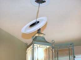 ways to installing chandelier lighting replace recessed light with a pendant fixture