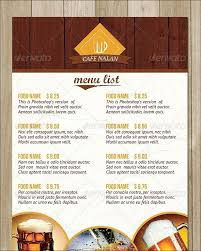 Coffee Shop Restaurant Menu Template Free Sample Design Templates ...