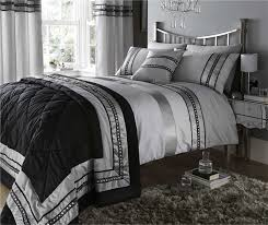 white and silver bedding diamante quilt duvet cover pillowcases sets