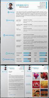 Unique Resume Templates Free Fascinating 48 Free Elegant Modern CV Resume Templates PSD Freebies
