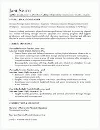 resume examples high school student physical education teacher resume