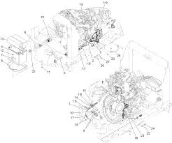 Engine wiring harness and battery assembly