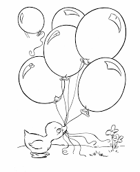 Small Picture Easter Ducks Coloring page baby duck with balloons Pinturas