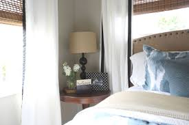 furniture small bedroom. Here\u0027s An Example Of A Round Nightstand Table That Is Unobtrusive Yet Looks Great In This Furniture Small Bedroom E